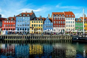 Colorful buildings in Copenhagen